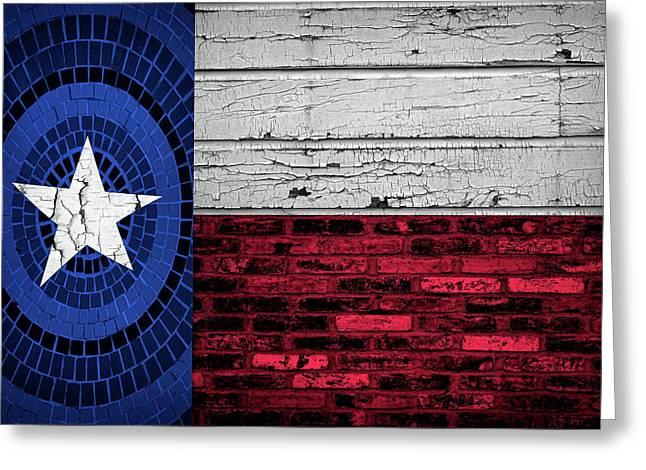 Organic Texas Flag Greeting Card