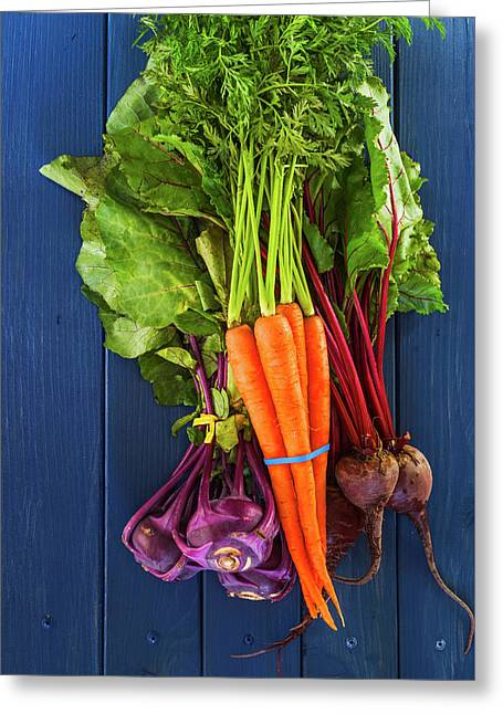 Organic Vegetables Greeting Card