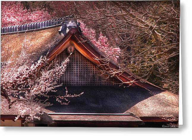 Orient - Shofuso House Greeting Card by Mike Savad