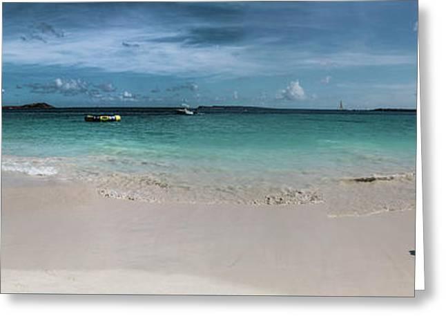 Orient Beach, St Martin Panorama Greeting Card