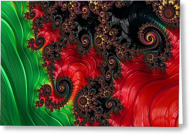 Oriental Abstract Greeting Card
