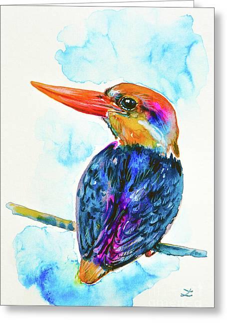 Oriental Dwarf Kingfisher Greeting Card
