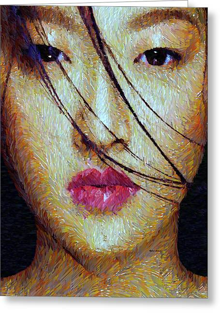Oriental Expression 0701 Greeting Card by Rafael Salazar