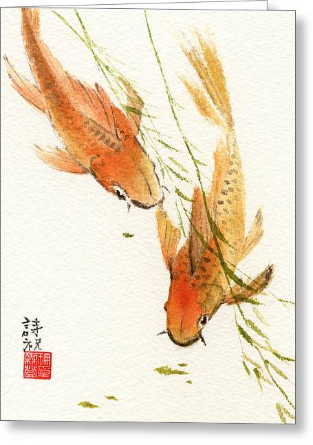 Oriental Koi Greeting Card