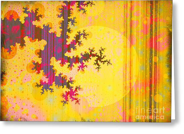 Oriental Moon Behind My Courtain Greeting Card