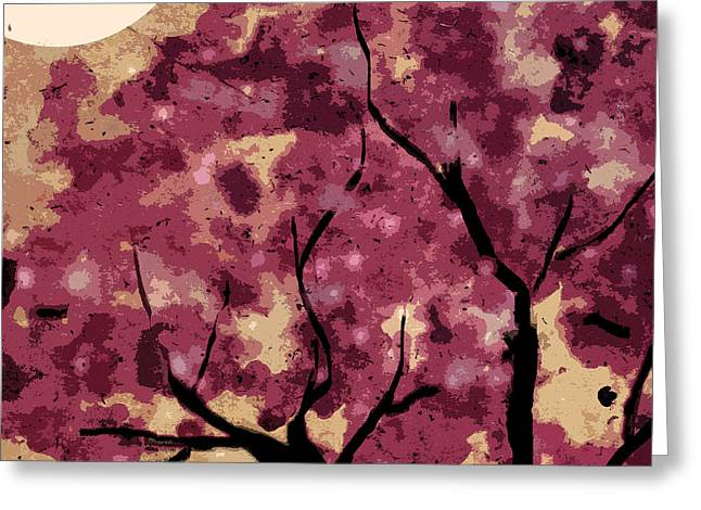 Oriental Plum Blossom Greeting Card by Xueling Zou