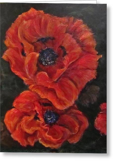 Oriental Poppys  Greeting Card