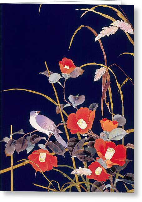 Oriental Wildflowers Greeting Card by Haruyo Morita