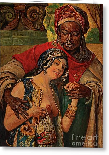 Orientalisches Paar  Greeting Card by Pg Reproductions