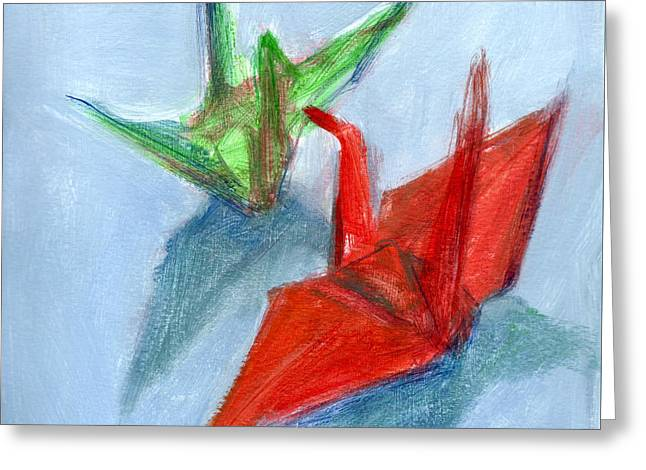 Origami Cranes Greeting Card