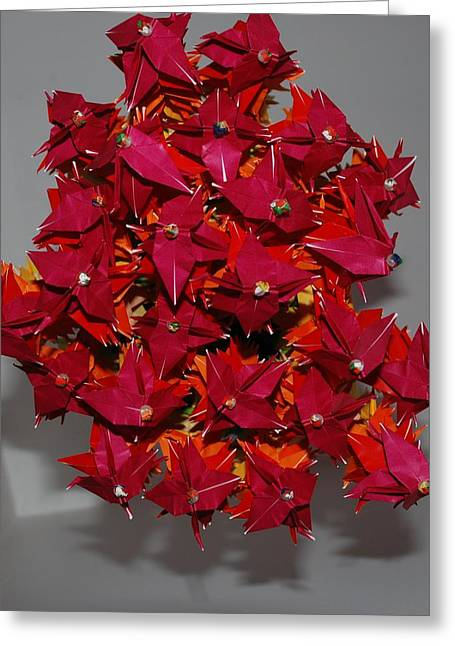 Origami Flowers Greeting Card by Rob Hans