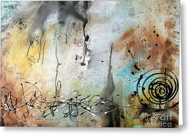 Original Abstract Acrylic Painting On Canvas Desert Surroundings By Megan Duncanson Greeting Card by Megan Duncanson