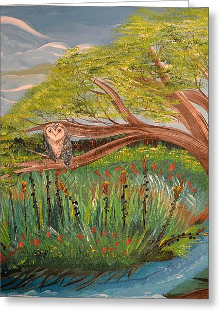 Original Acrylic Artwork By Mimi Stirn - Hoomasters Collection Hoomonet #413 Greeting Card
