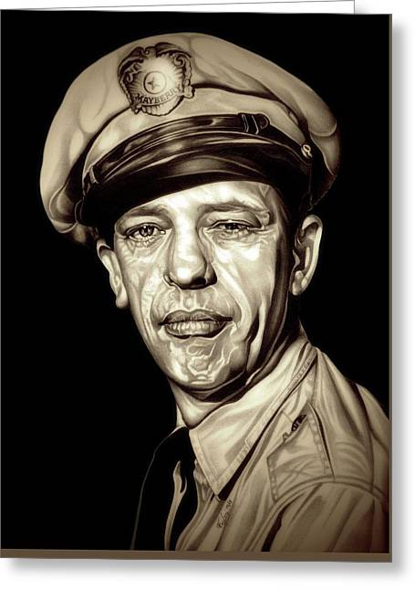 Original Barney Fife Greeting Card by Fred Larucci