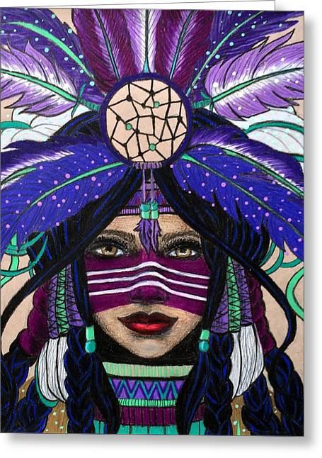 Original Native Princess Greeting Card