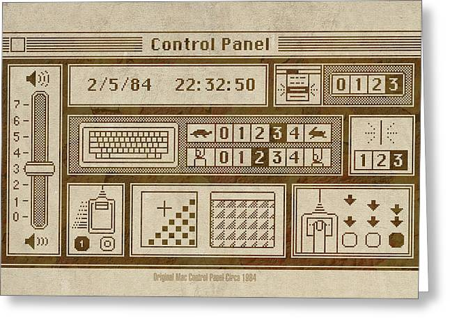 Original Mac Computer Control Panel Circa 1984 Greeting Card by Design Turnpike