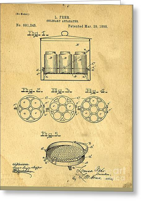 Original Patent For Canning Jars Greeting Card by Edward Fielding