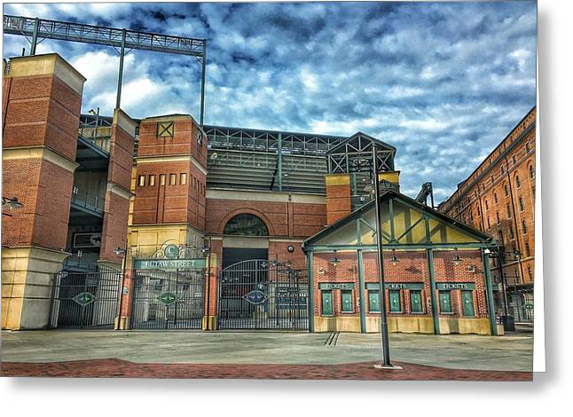 Oriole Park At Camden Yards Gate Greeting Card