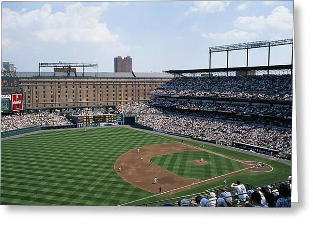 Baltimore Orioles Greeting Cards - Orioles Park. Kansas City Royals Greeting Card by Brian Gordon Green