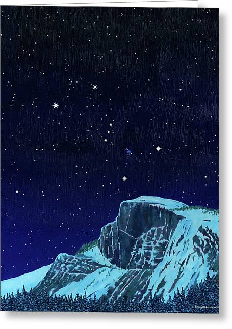 Orion Over Yosemite Greeting Card