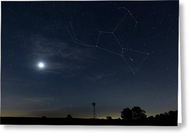 Orion The Hunter Greeting Card by Bill Wakeley