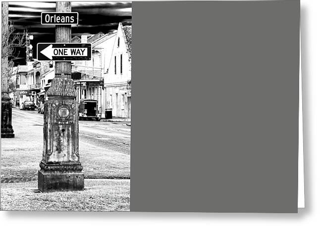 Orleans Street One Way Greeting Card