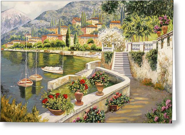ormeggio a Bellagio Greeting Card