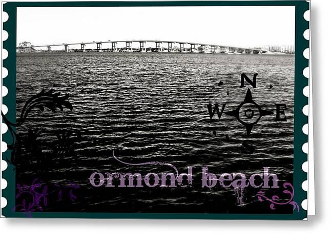 Ormond Beach Postcard Greeting Card by Laura Ogrodnik