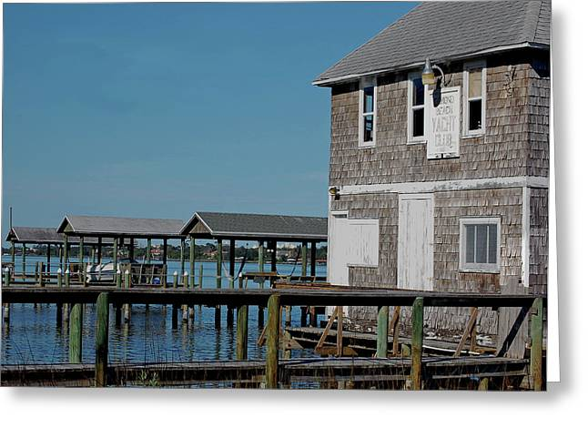Ormond Yacht Club Est 1910 Greeting Card by DigiArt Diaries by Vicky B Fuller