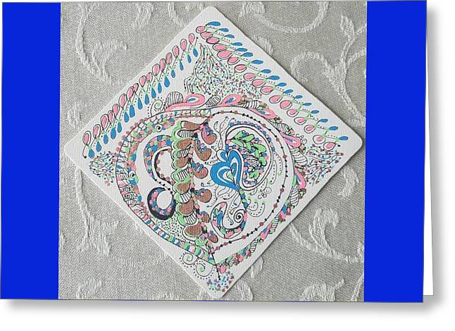 Greeting Card featuring the drawing Ornament by Carole Breccht
