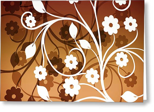Greeting Card featuring the digital art Ornamental 2 Warm by Angelina Vick