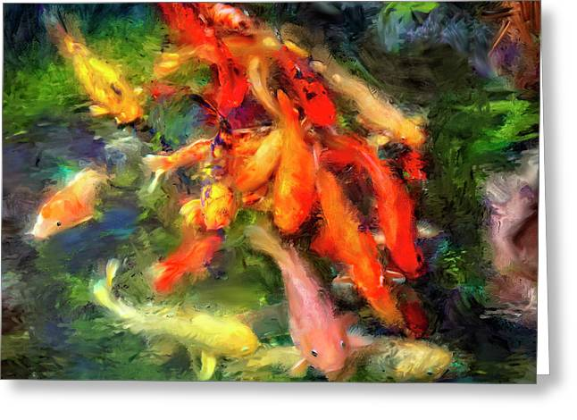 Ornamental Koi Greeting Card