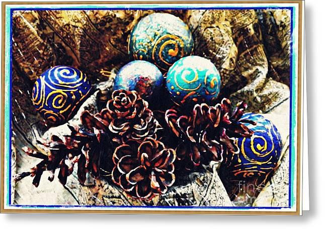 Ornaments 6 Card 2 Greeting Card by Sarah Loft