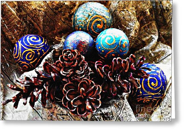 Ornaments 6 Greeting Card by Sarah Loft