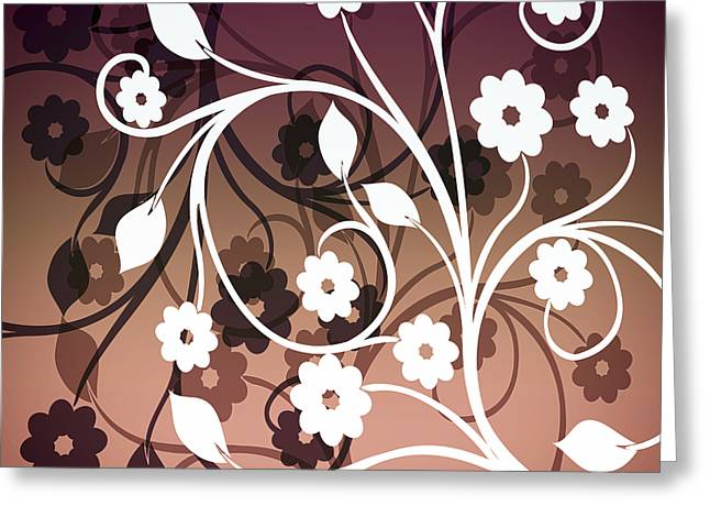 Greeting Card featuring the digital art Ornametal 2 Purple by Angelina Vick