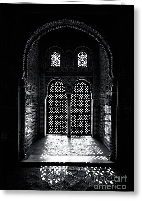 Ornate Alhambra Window Greeting Card