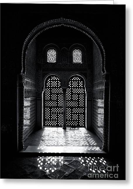 Ornate Alhambra Window Greeting Card by Jane Rix