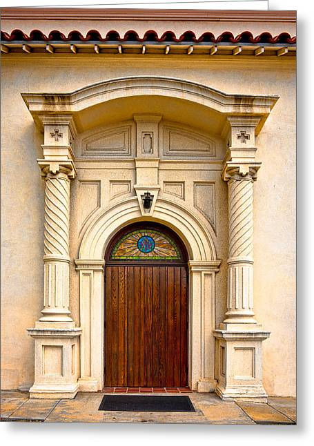 Ornate Entrance Greeting Card by Christopher Holmes