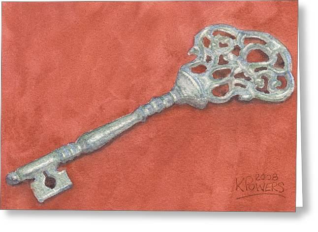 Ornate Mansion Key Greeting Card by Ken Powers