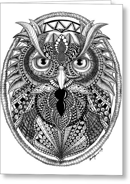 Ornate Owl Greeting Card
