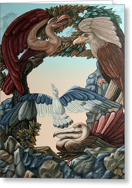 Ornithological Symphony By Ludwig Van Beethove Greeting Card