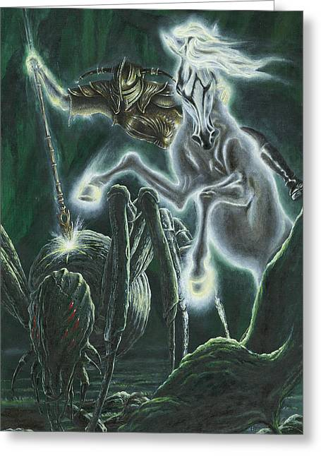 Orome Hunts The Creatures Of Morgoth Greeting Card by Kip Rasmussen