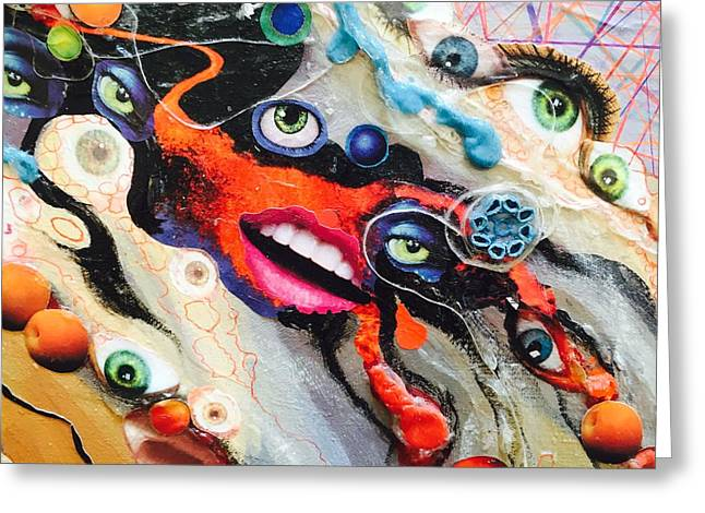 Eye Gumbo Greeting Card by Douglas Fromm
