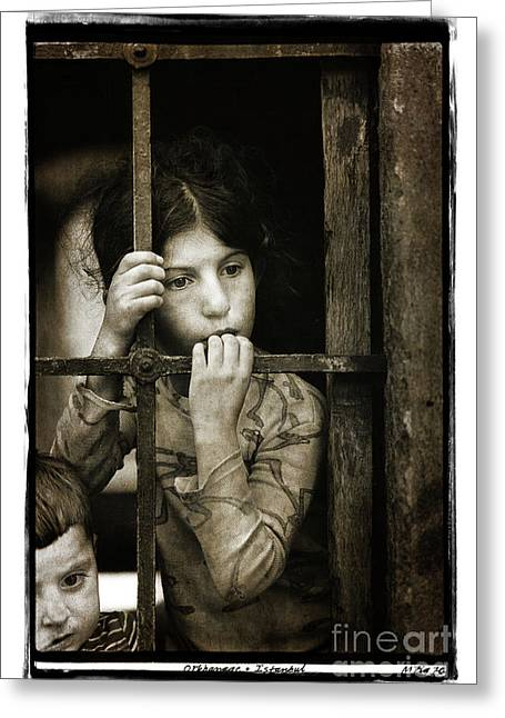 Orphans, Istanbul 1976 Greeting Card by Michael Ziegler