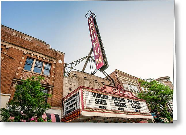 Orpheum Facade Greeting Card by Todd Klassy