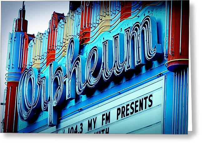 Orpheum Theater Greeting Card by Ariane Moshayedi