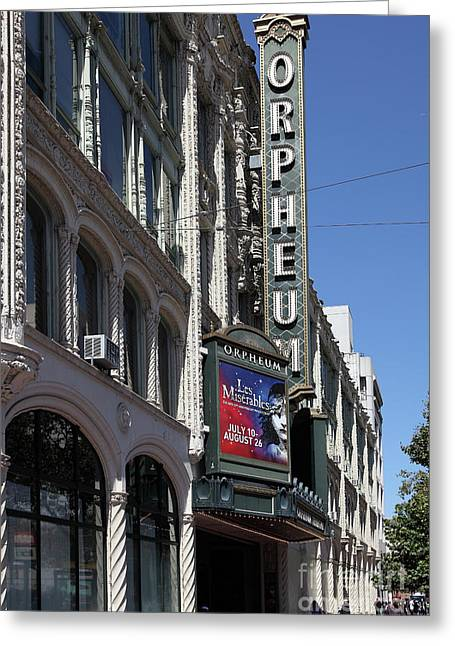 Orpheum Theatre San Francisco California 5d17997 Greeting Card
