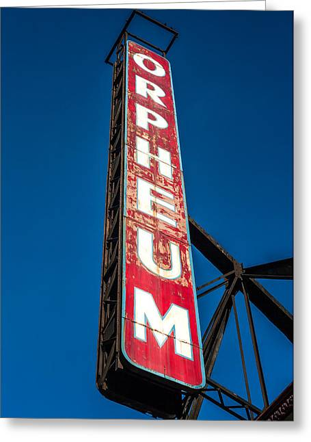 Orpheum Vertical Greeting Card by Todd Klassy