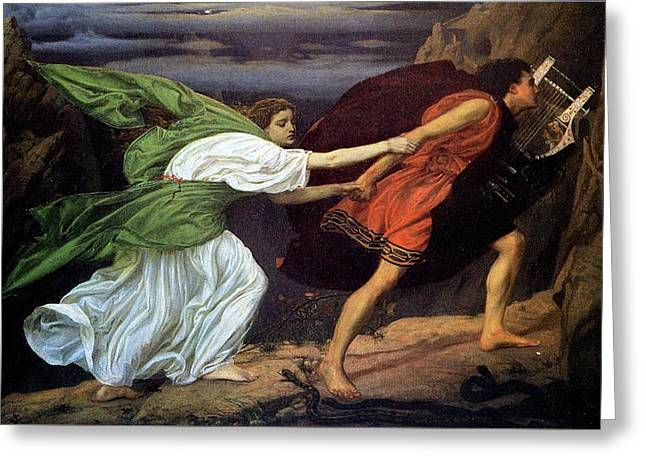 Orpheus And Euridice Greeting Card by Edward Poynter