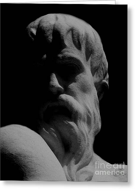 Orpheus Looks Back Greeting Card by RC DeWinter
